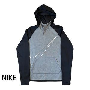 NIKE DRI-FIT Hoodie Black & Gray Size Small